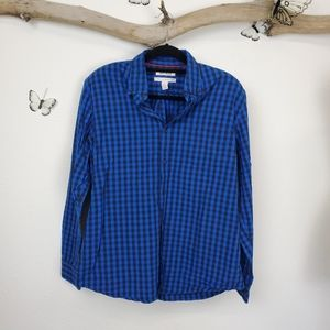 Good threads casual gingham check button up